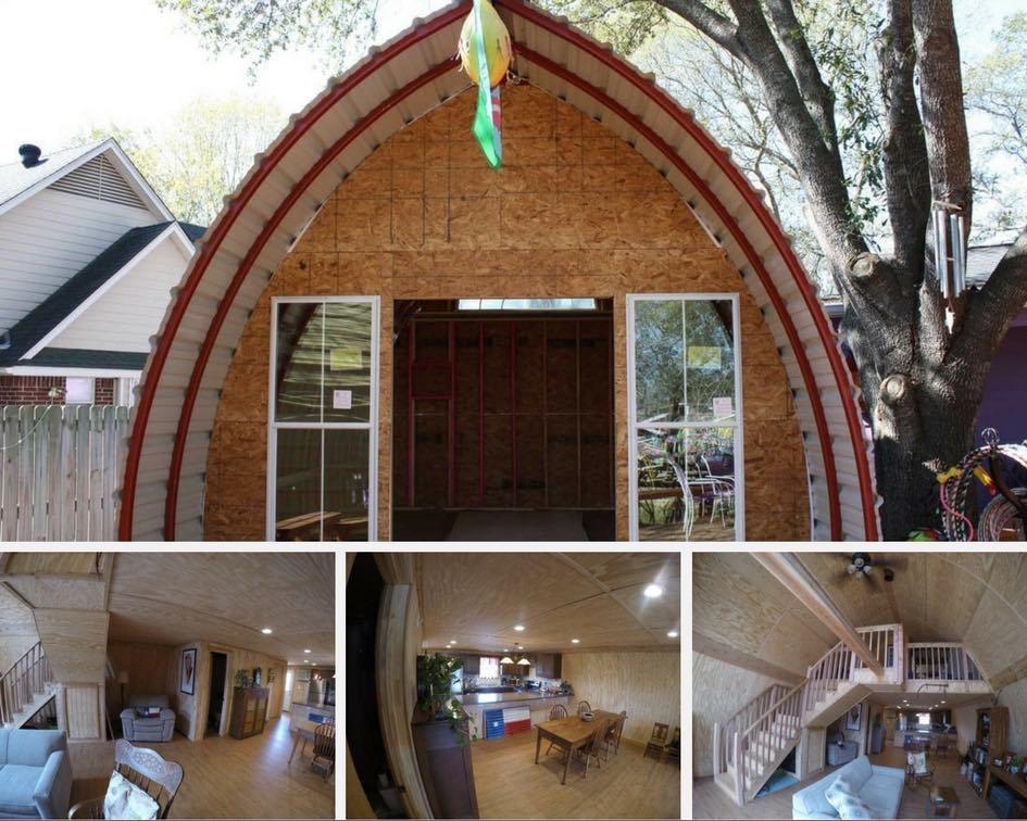 Una cabaña de campo en forma de arco por menos de 1.000 $