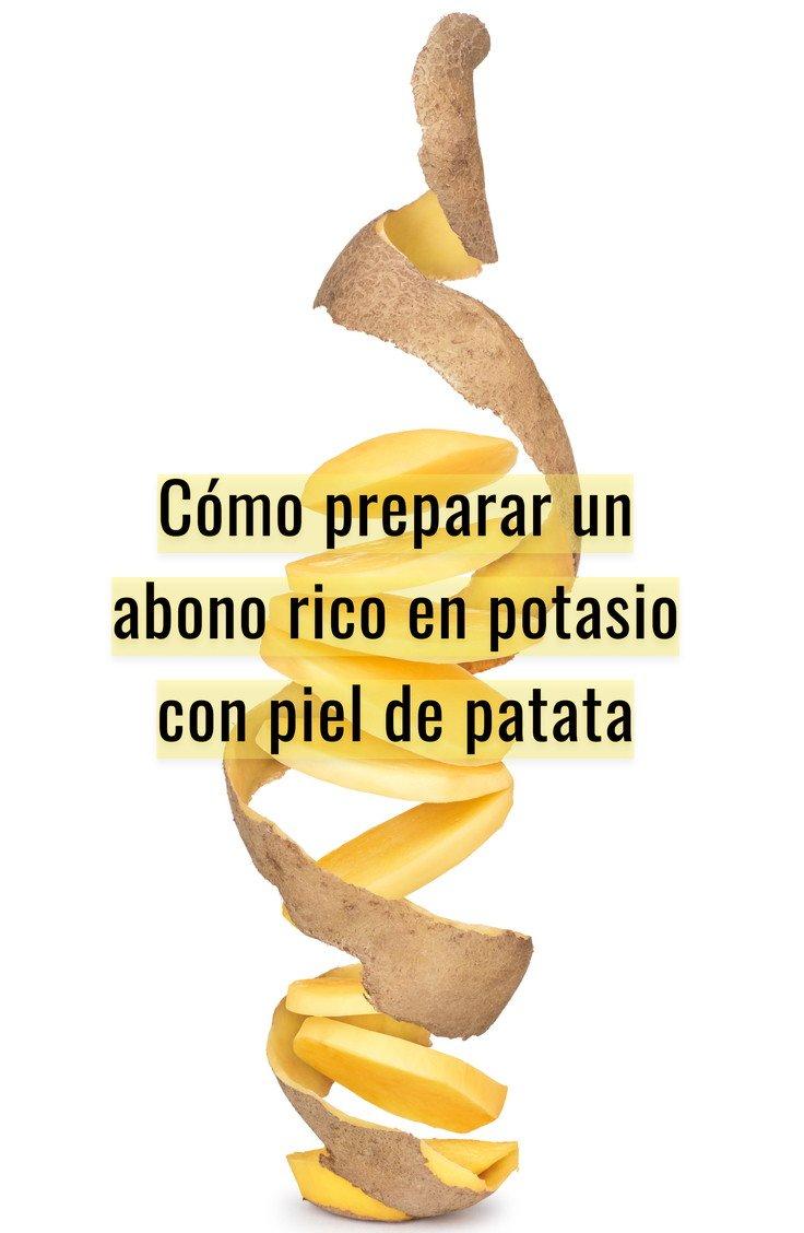 Cómo hacer abono con cascaras de patata.