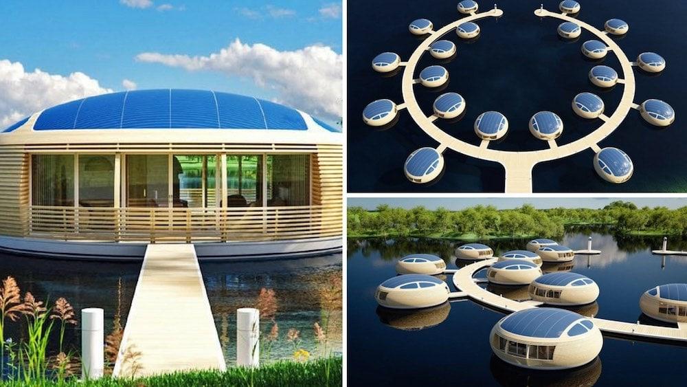 WaterNest 100. La casa flotante 100% solar para vivir en cualquier lugar del mundo