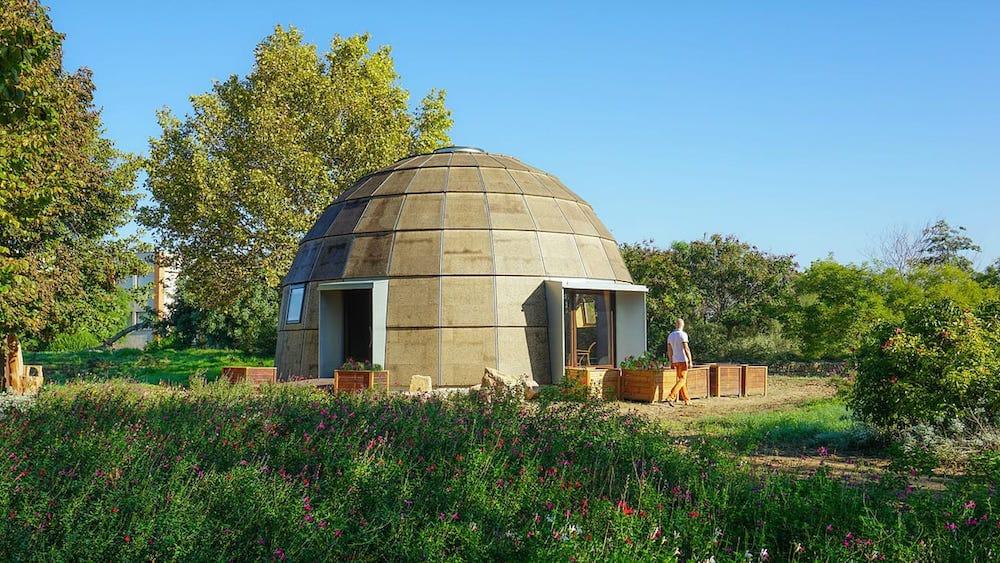 Chapeau Vert, un domo ecológico que podrás montar tu mismo