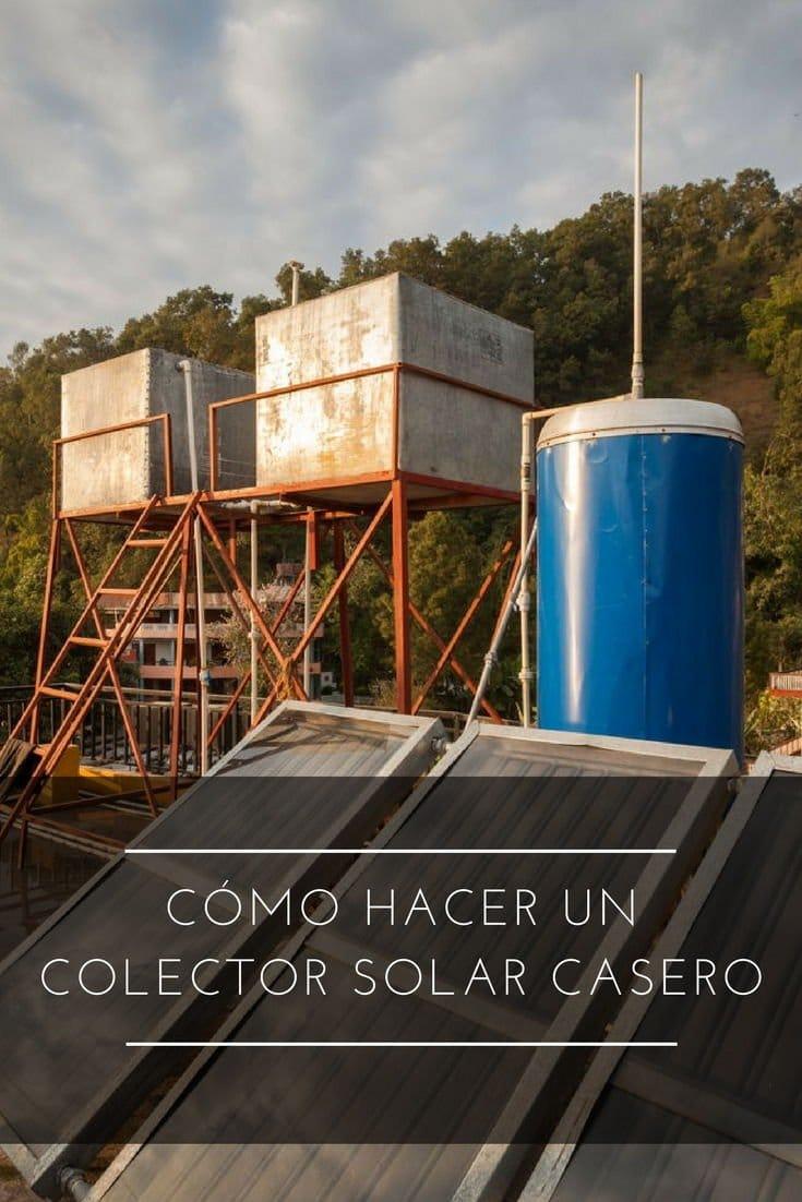 Cómo hacer un colector solar casero