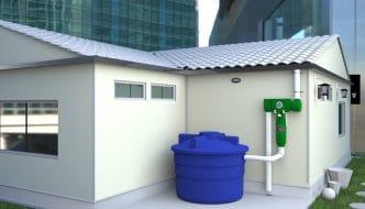 Sistema de captación de agua de lluvia para usar como agua potable