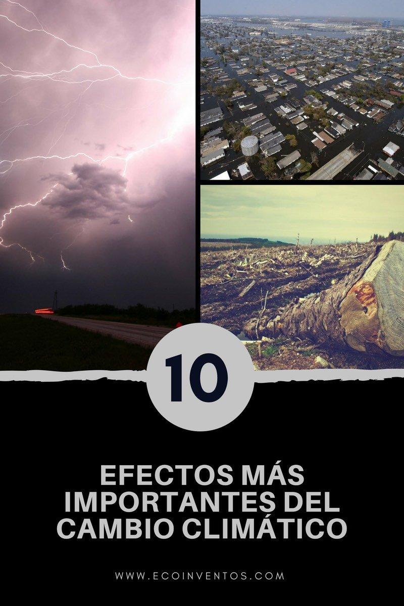 Los diez efectos más importantes del cambio climático