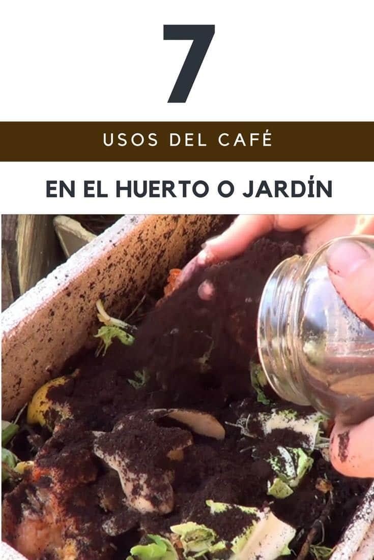 Usos del café en el huerto o jardín