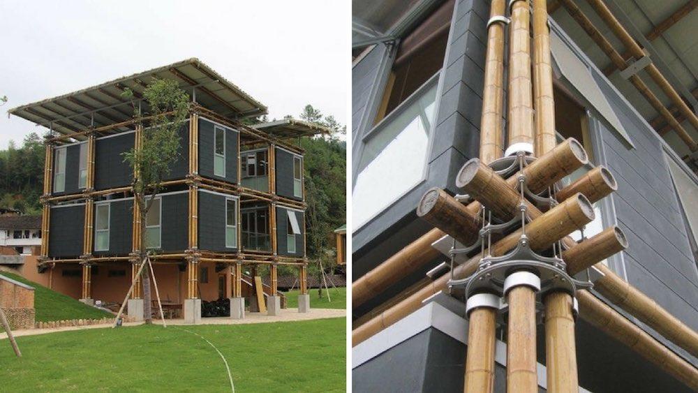 Una casa de bamb inspirada en el feng shui que utiliza el for Casas feng shui arquitectura