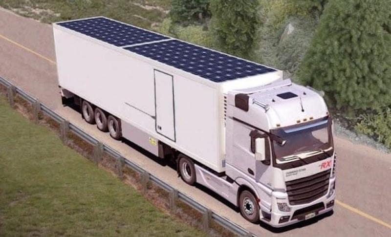 Solar Powered Camper >> Integrar paneles solares en la cubierta de un camión le permitiría ahorrar hasta 1.900 litros de ...