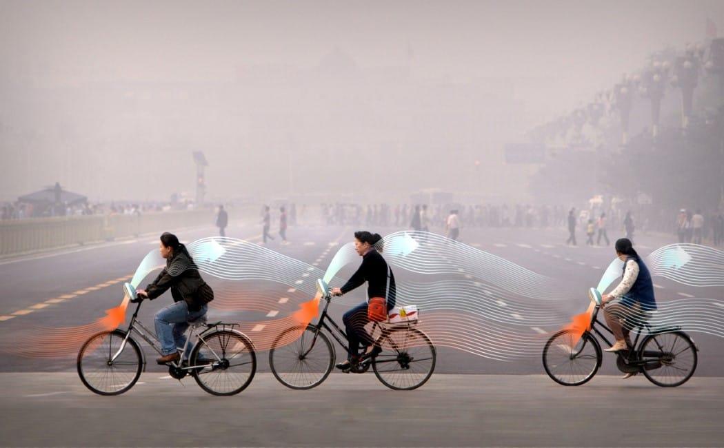 Llegan a China las bicicletas que comen contaminación
