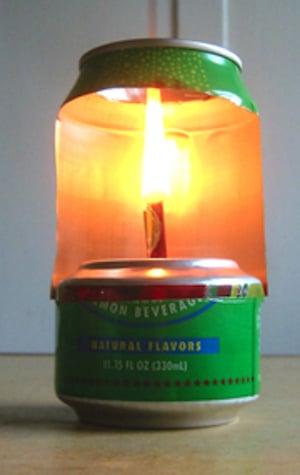 Cómo Hacer Una Lámpara Con Una Lata De Aluminio