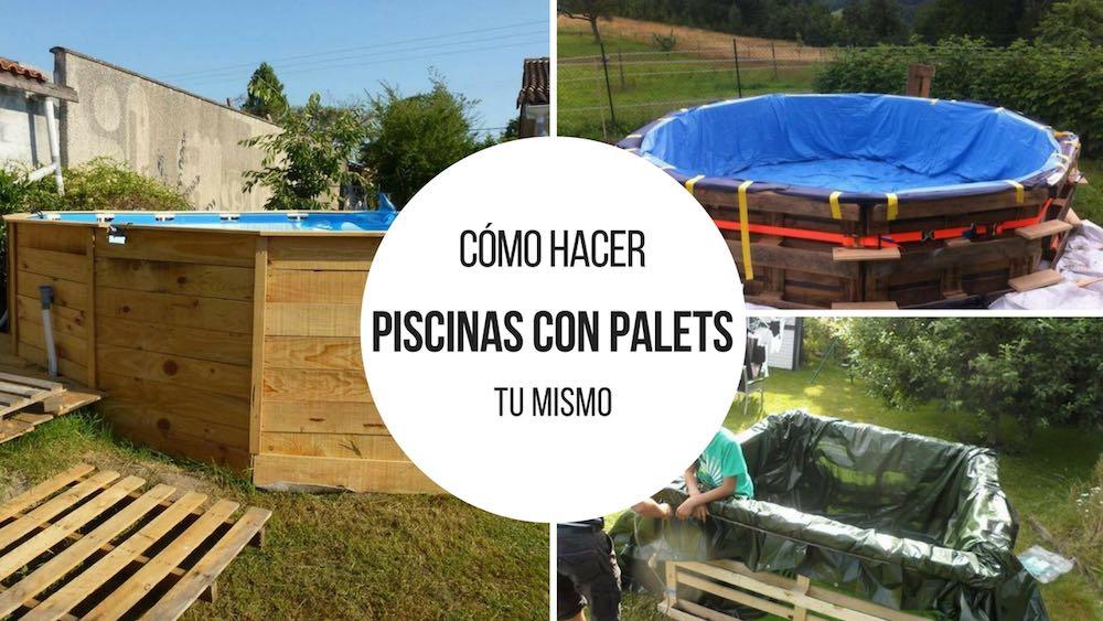 6 propuestas para hacer tu piscina con palets Construir una pileta de ladrillos