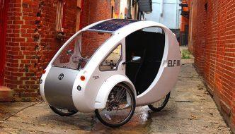 ELF, la bicicleta eléctrica con techo solar incorporado