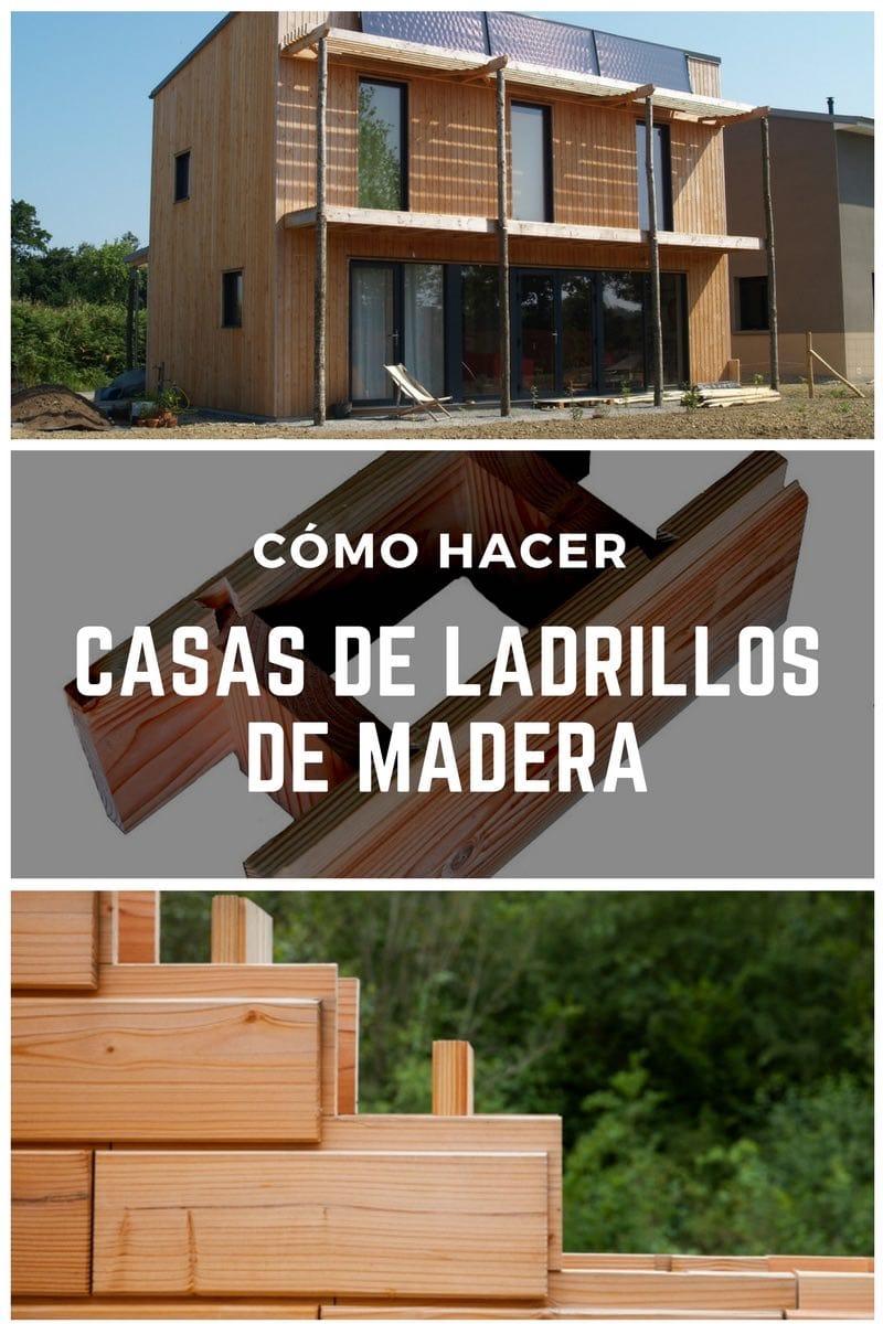 Brikawood las casas de ladrillos de madera tipo lego que Construir una pileta de ladrillos