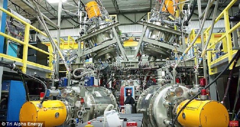Reactor fusión nuclear Tri Alpha Energy