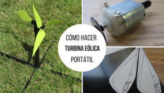 Cómo hacer tu propia turbina eólica portátil