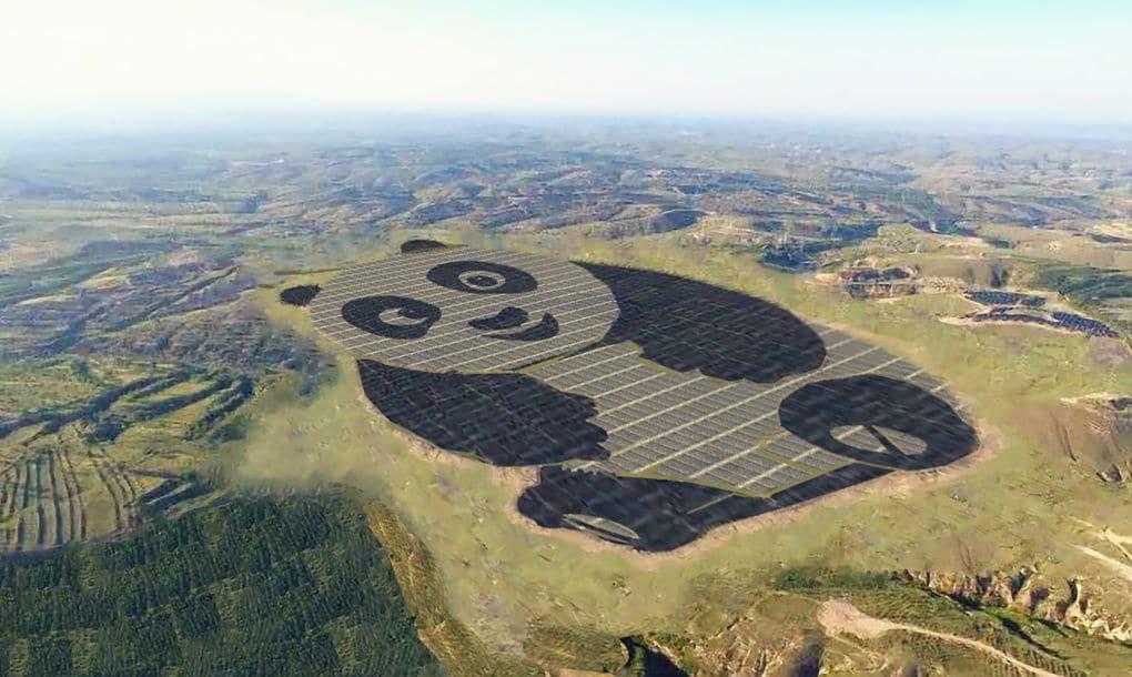 Inaugurada en China una granja solar en forma de Panda