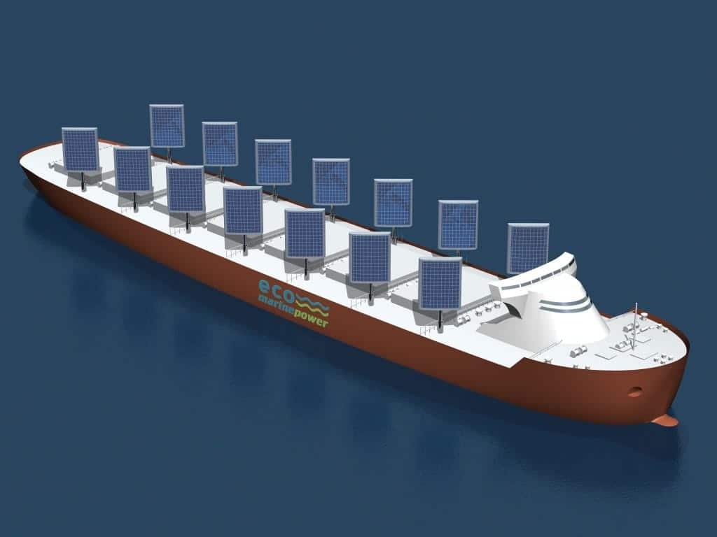 El primer buque de mercancías que navegará gracias a la energía solar y eólica