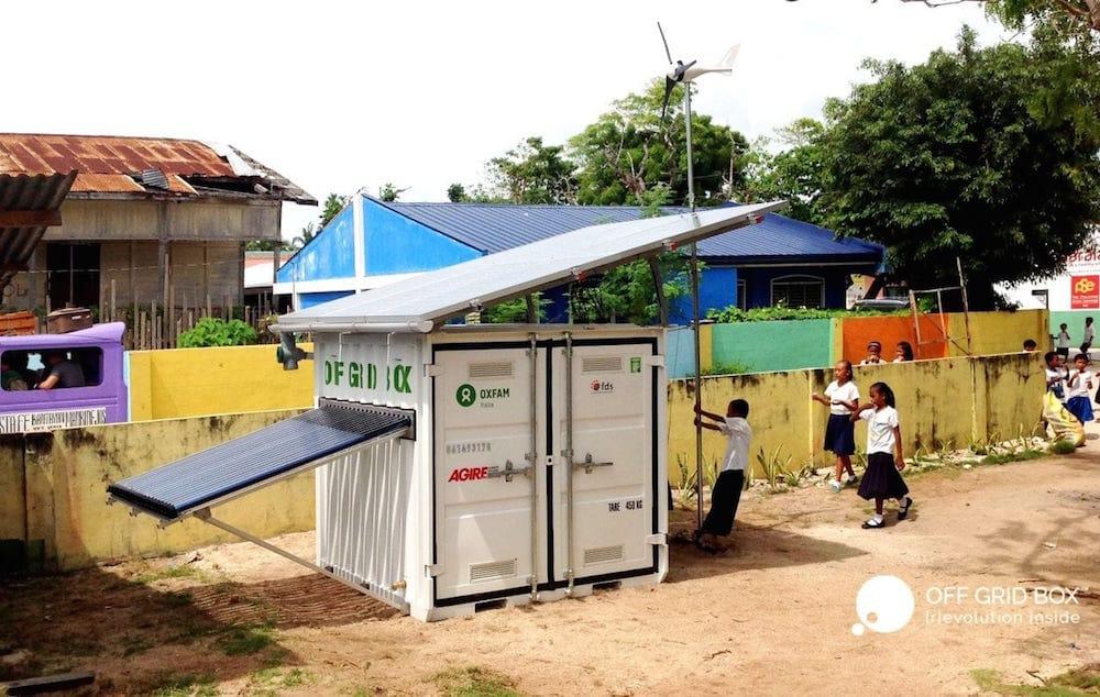 OffGridBox, un sistema todo en uno para producir energía y agua potable