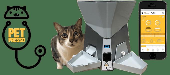 Petpresso, el primer cuidador inteligente para gatos domésticos