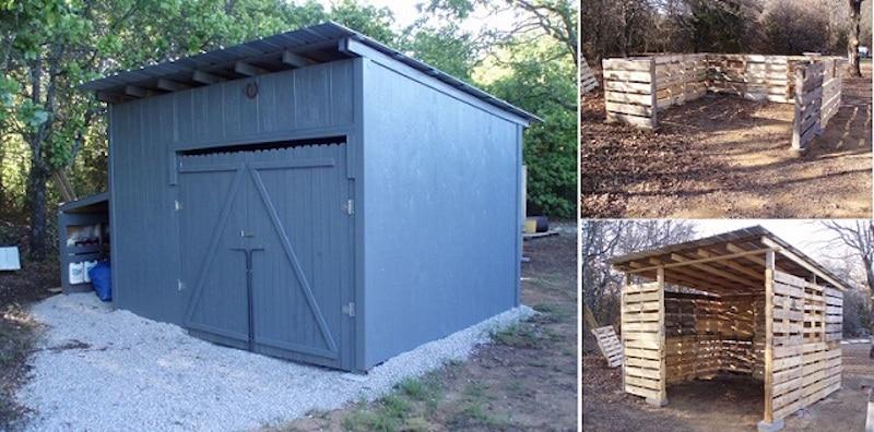 Cómo hacer un cobertizo de madera con palés reutilizados