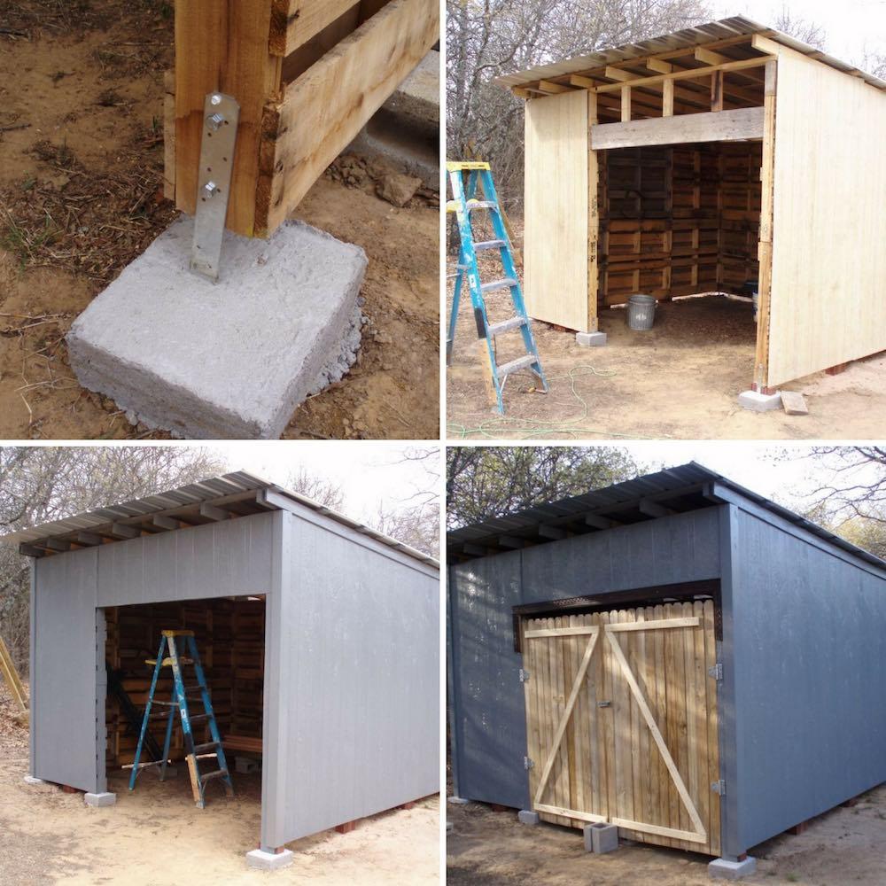 C mo hacer un cobertizo de madera con pal s reutilizados - Como rejuvenecer un piso antiguo ...