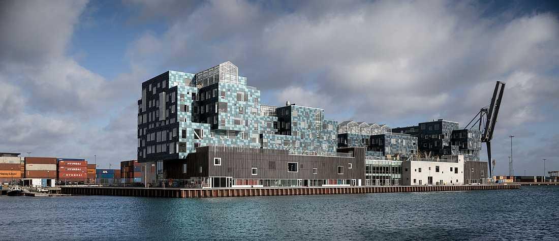 Conoce la escuela danesa cubierta por 12.000 paneles solares de color verde marino