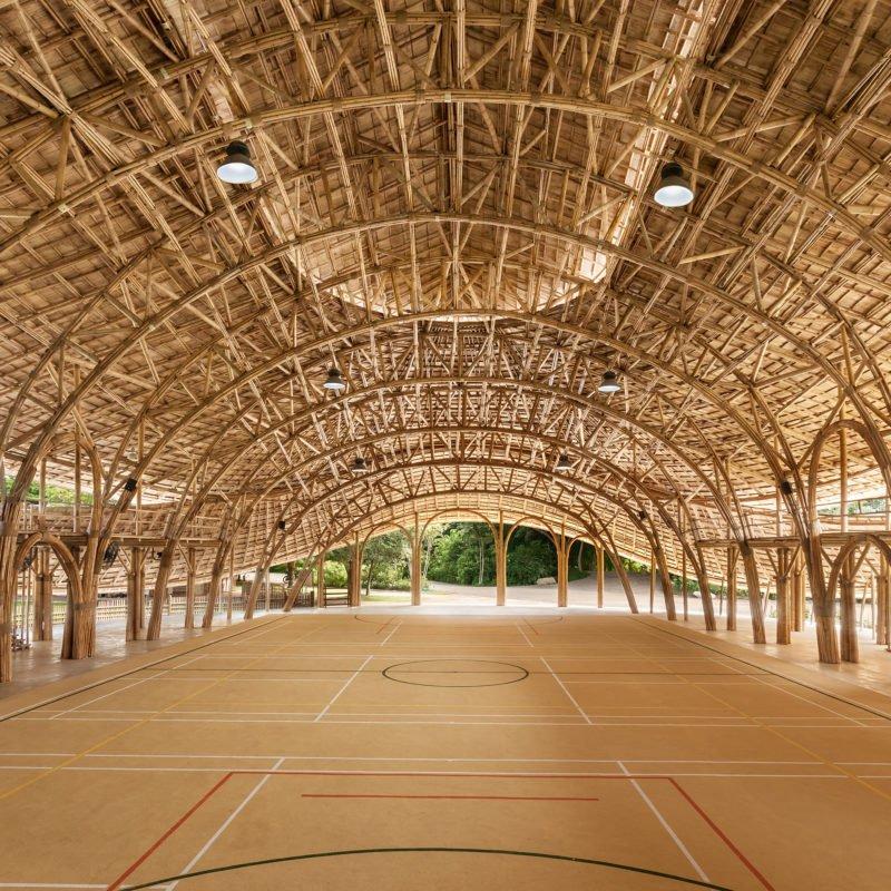 Tailandia inaugura un pabellón deportivo de bambú de consumo energético casi nulo y resistente a terremotos