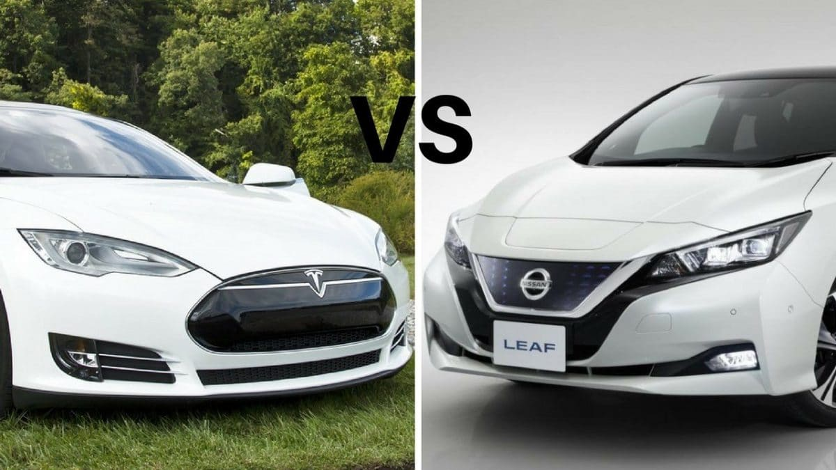 Nissan Leaf 2018 vs Tesla Model 3