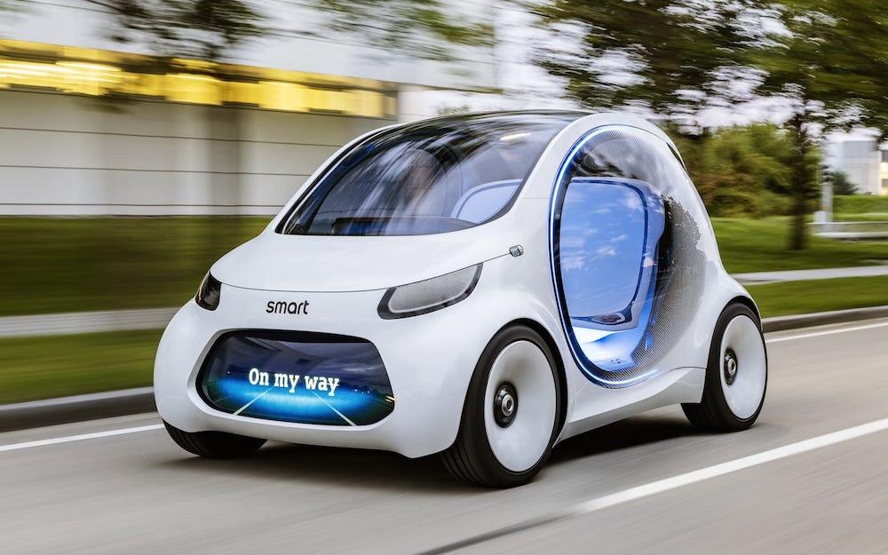 Nuevo Smart Fortwo Vision EQ eléctrico y autónomo listo para revolucionar el mercado del 'carsharing'