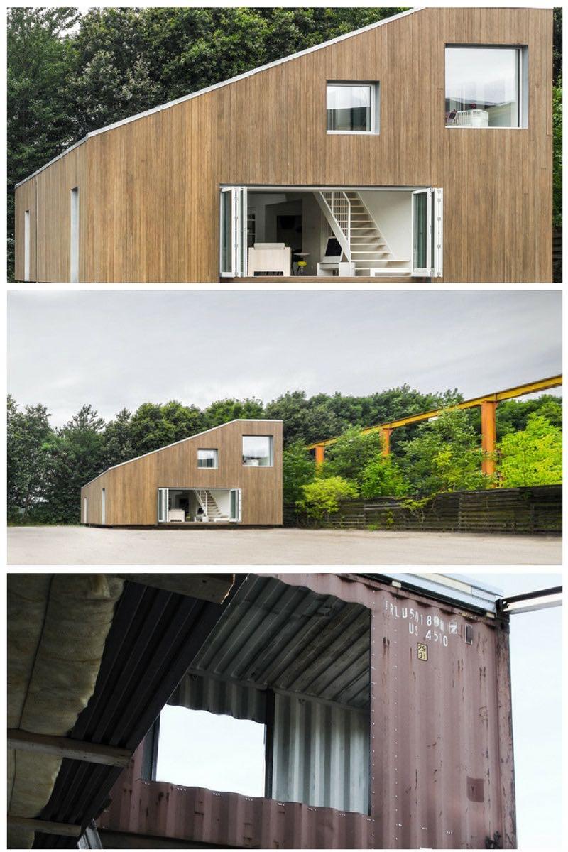 casa hecha con contenedores de transporte marítimo