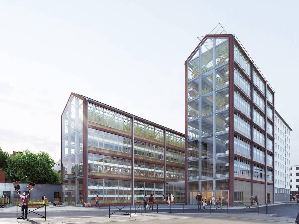 Invernadero vertical urbano Francia
