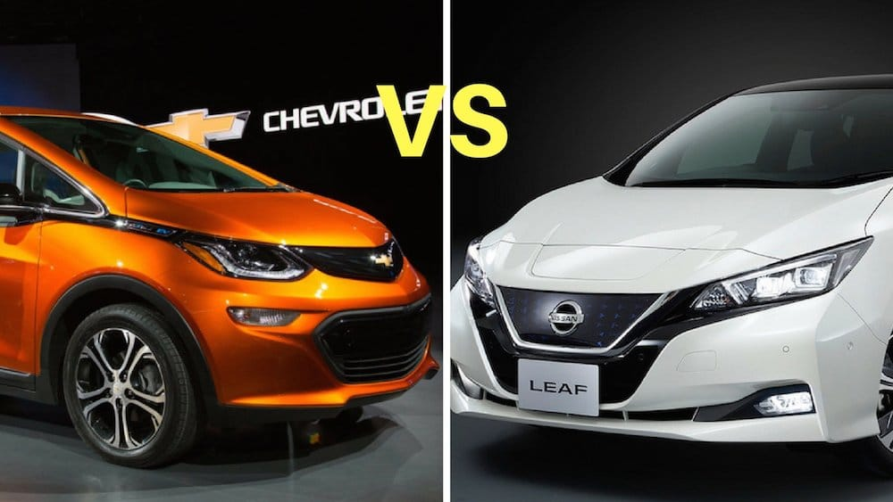 Nissan Leaf 2018 vs Chevy Bolt