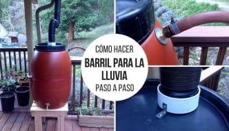 Crea tu barril para la lluvia casero y aprovecha un recurso tan escaso como el agua