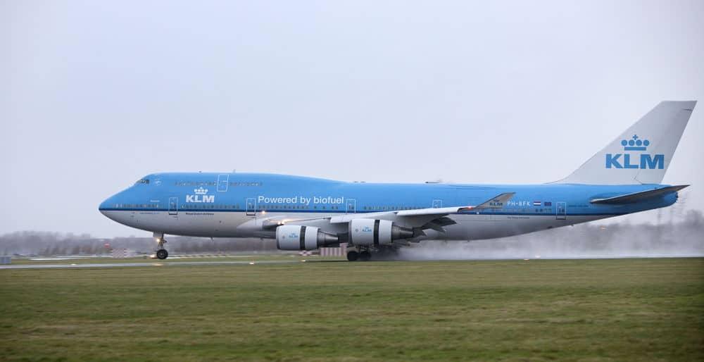 KLM empieza a operar en Costa Rica con biofuel