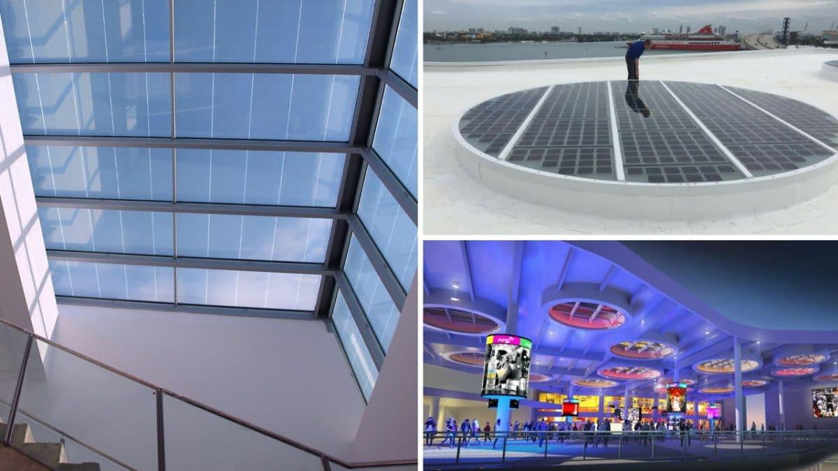 Un lucernario fotovoltaico que genera energía limpia y gratuita