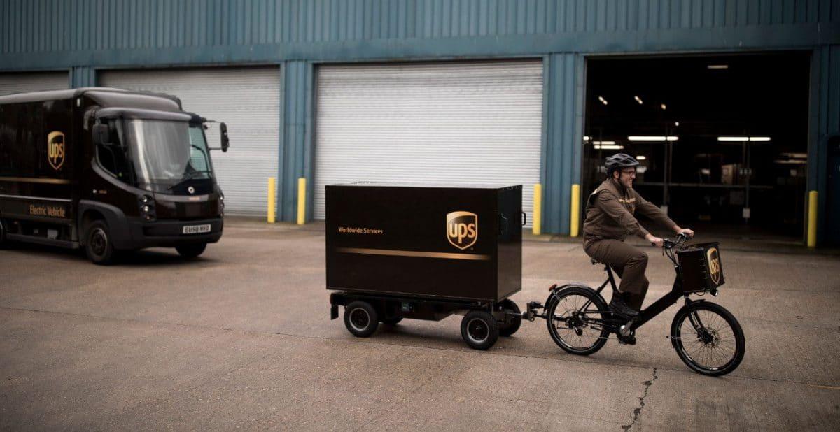 En Londres, UPS entrega sus paquetes en unas nuevas bicicletas con ...