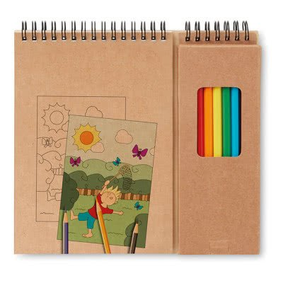 Cajas de lápices de colores de cartón reciclado