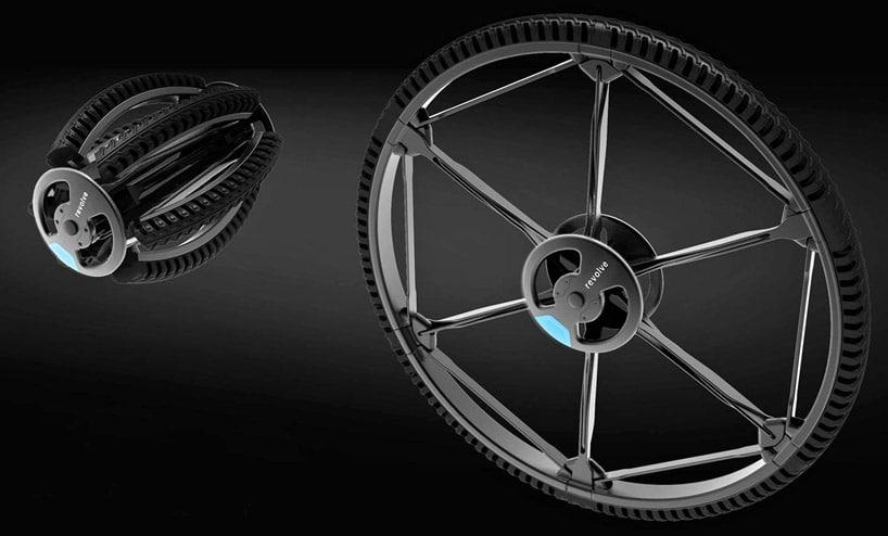 Un neumático de bicicleta plegable sin aire a prueba de pinchazos