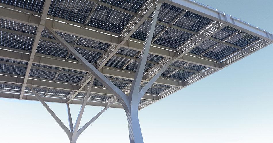 Marquesinas y pérgolas fotovoltaicas