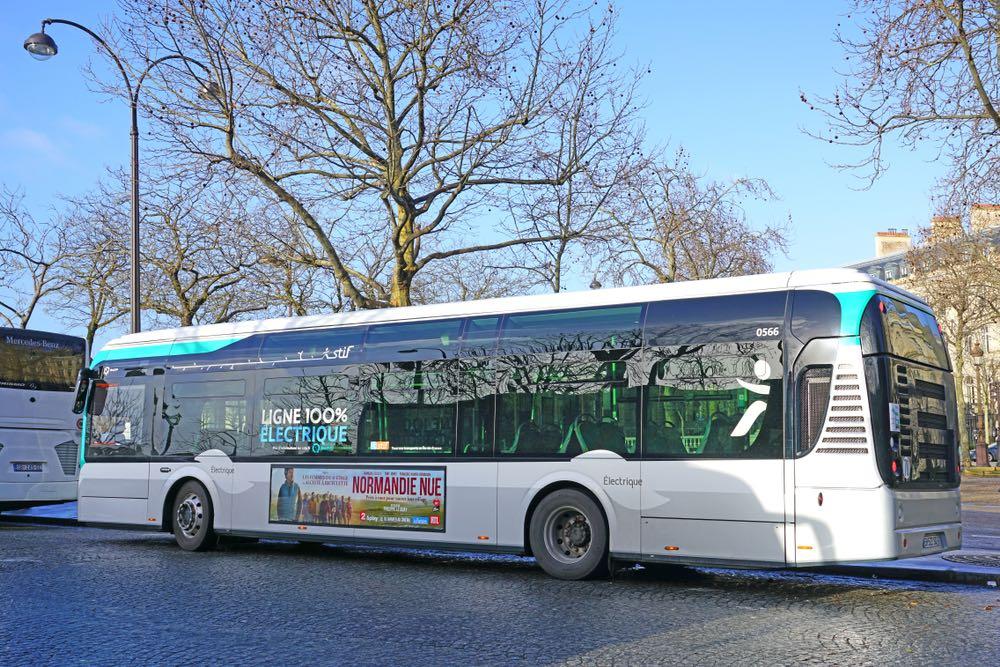 Primeros 1000 autobuses eléctricos para la meta parisina de un transporte público 100% cero emisiones