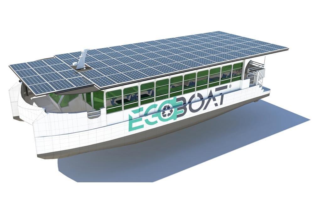 Ecocat, el primer catamarán europeo propulsado por energía solar botado en Santander
