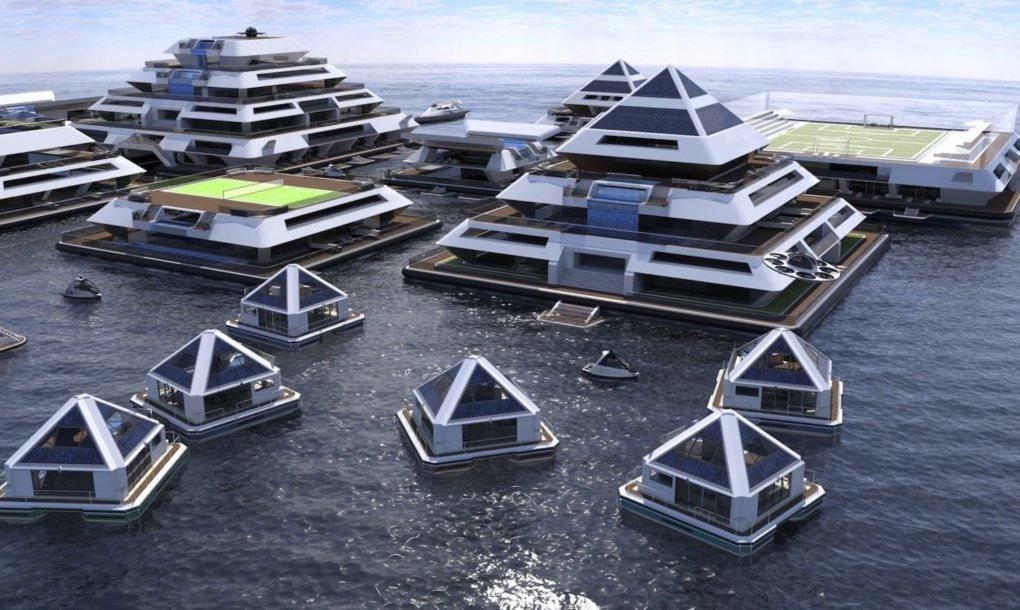 Arquitectura Maya para una ciudad flotante autosuficiente