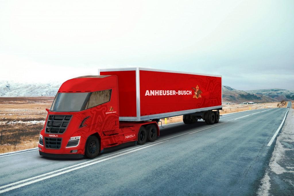 Budweiser renovará su flota de 800 camiones diesel por otros de hidrógeno de Nikola Motors