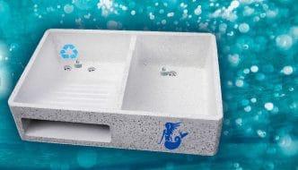 Lavadero ecológico que permite separar las aguas grises para su reutilización