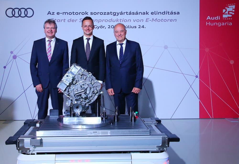 Audi comienza la producción de sus motores eléctricos en Hungría