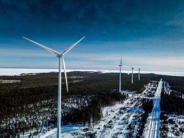 Auge de las turbinas eólicas en Suecia
