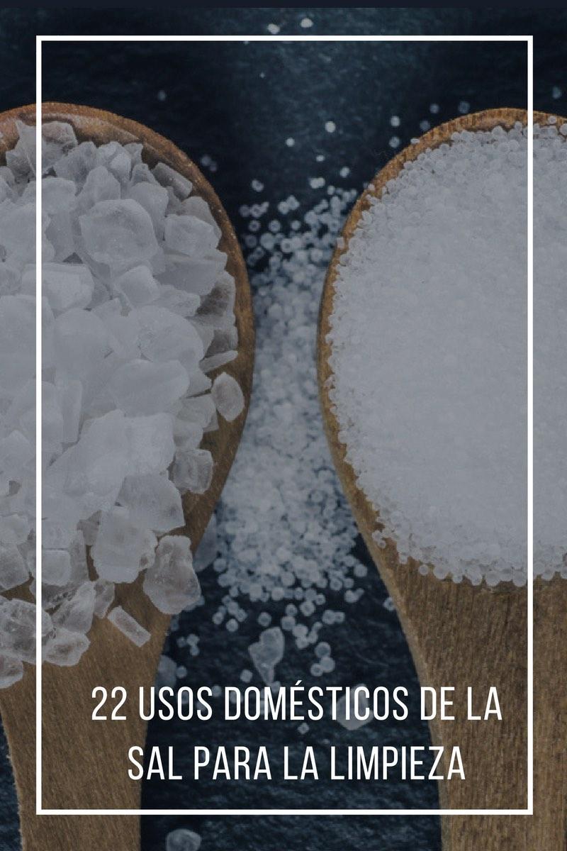 Usos domésticos de la sal para la limpieza