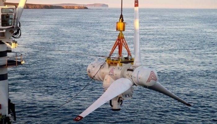 La turbina mareomotriz de rotor simple más grande del mundo, récord de 2 MW