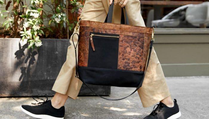 Mylo Driver Bag, hecha con el primer cuero fabricado con setas