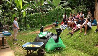 Esta escuela brasileña convierte sus residuos orgánicos en gas de cocina