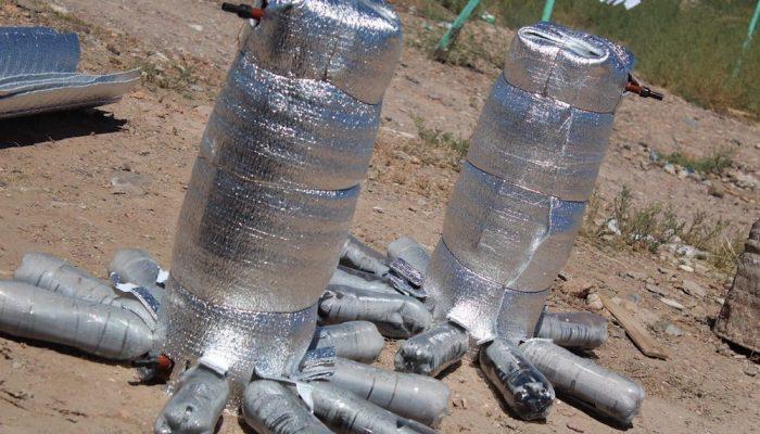 Ducha de sol, el calentador solar de agua con materiales reciclados que puedes hacer tu mismo