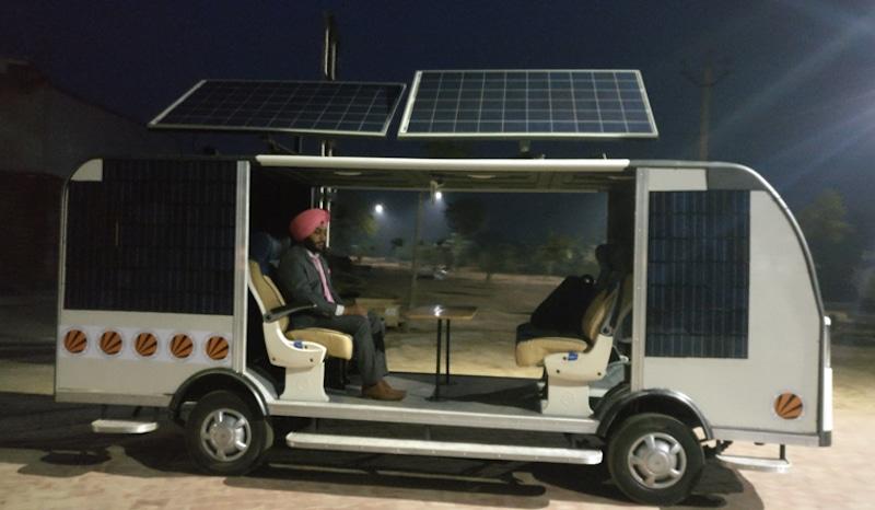 Autobús-solar-autónomo-india